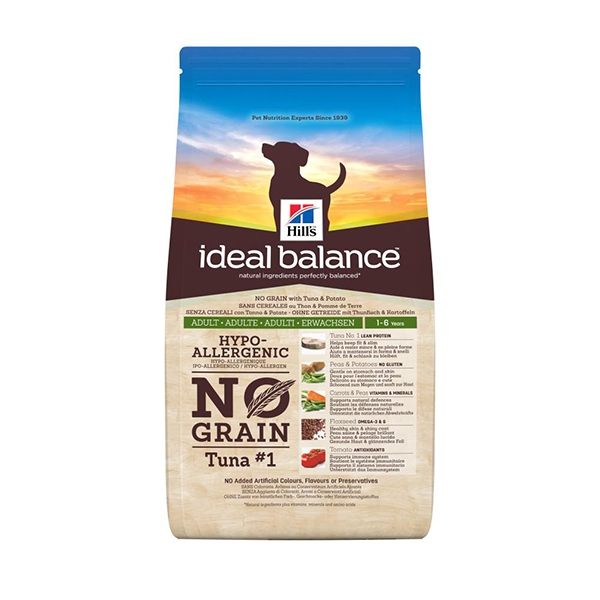 Hill's Pet Nutrition - Ideal Balance Canine Adult No Grain con Tonno e Patate