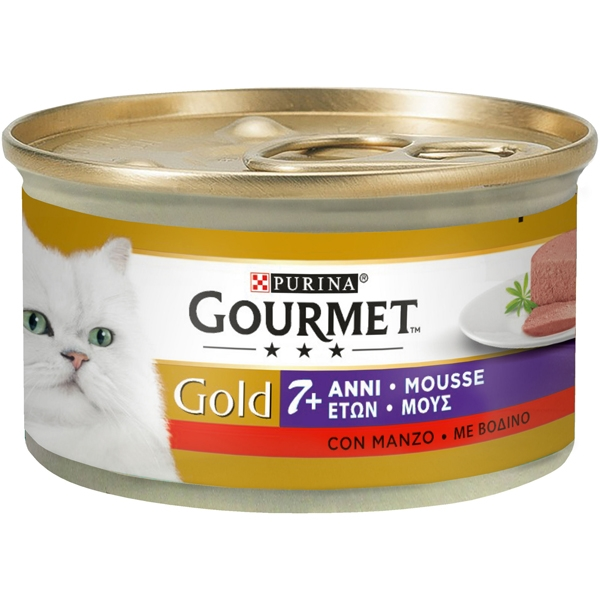 Nestle' Purina - Gourmet Gold Mousse +7 con Manzo