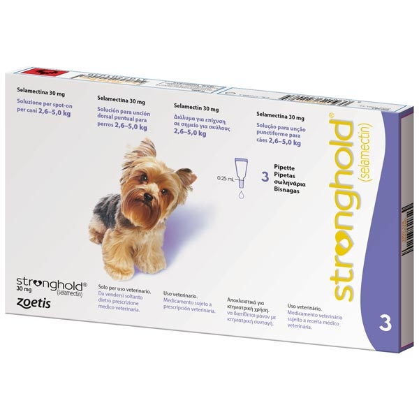Zoetis - Pfizer Animal Health - Stronghold 30 mg Soluzione per Spot-On con Tappo Viola