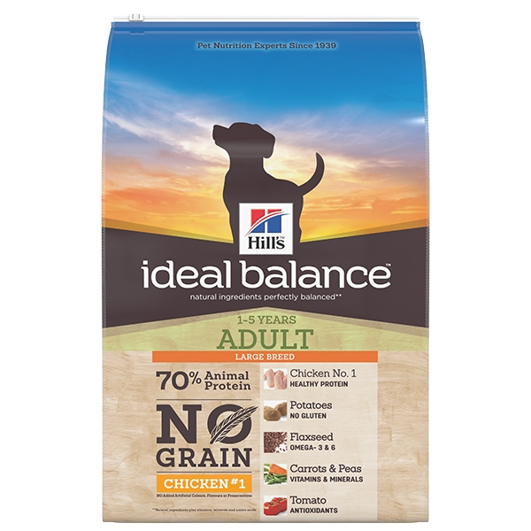 Hill's Pet Nutrition - Ideal Balance Canine Adult Large No Grain Pollo e Patate
