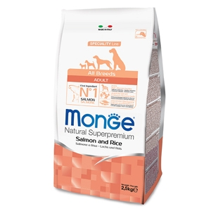 Monge - Natural Superpremium All Breeds Adult Salmone e Riso