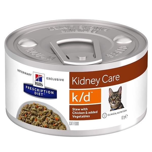 Hill's Pet Nutrition - Prescription Diet Stew k/d Kidney Care Renal con Pollo e Verdure