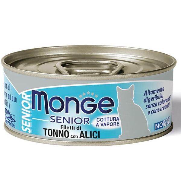 Monge - Natural Superpremium Jelly Senior Filetti di Tonno e Acciughe